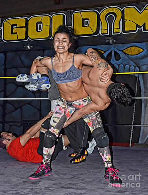 Tattoo Photograph - Thunder Rosa Strength Skill And Intensity  by Jim Fitzpatrick