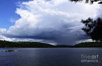 Photograph - Thunder Shower At Slim Lake by Larry Ricker
