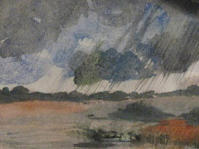 Art Print featuring the painting Thunder Showers by Trilby Cole
