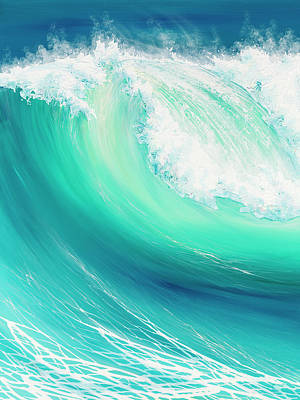 Beaches Painting - Thunder Song by Colin Perini
