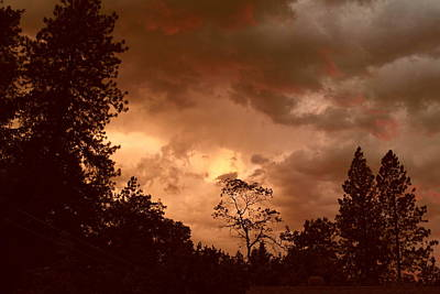 Photograph - Thunder Sunset by Michele Myers