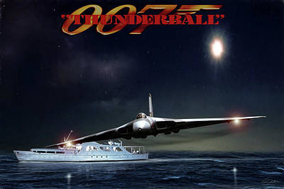 Dramatic Digital Art - Thunderball by Peter Chilelli