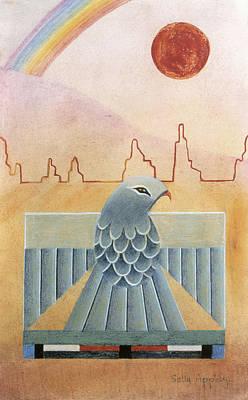 Thunderbird And Rainbow Art Print by Sally Appleby