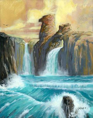 Thunderbird Falls Original by Johnny Collins