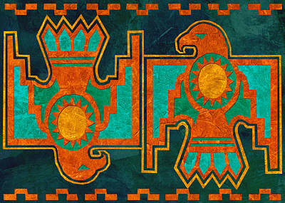 Native American Thunderbird Art Painting - Thunderbird by Linda Henry