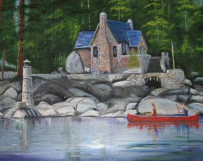 Thunderbird Lodge Boat House Art Print