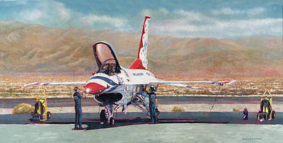 Painting - Thunderbird Maintenance  by Douglas Castleman