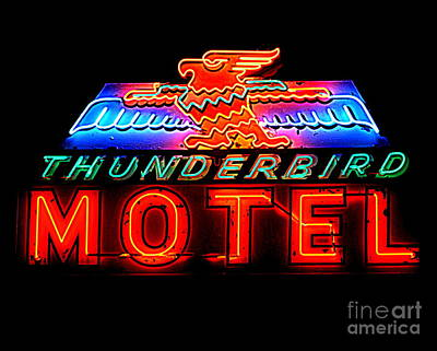 Photograph - Thunderbird Motel by Tru Waters