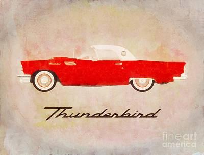 Gears Painting - Thunderbird Pop Art by Sarah Kirk