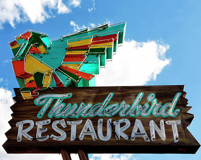 Photograph - Thunderbird Restaurant Vintage Neon Sign by Gigi Ebert
