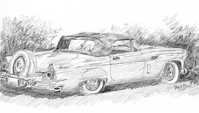 Drawing - Thunderbird Sketch by David King