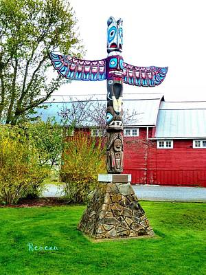Photograph - Thunderbird Totem by Sadie Reneau