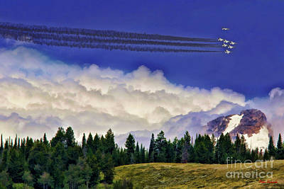Photograph - Thunderbirds Buzz The Tetons by Blake Richards