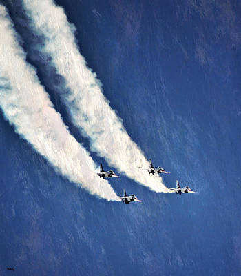 Photograph - Thunderbirds - Dropping In by Glenn McCarthy Art and Photography