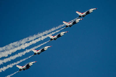 Photograph - Thunderbirds  Formation by Susan  McMenamin
