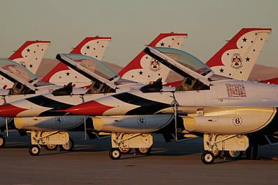Photograph - Thunderbirds In A Line by John Clark