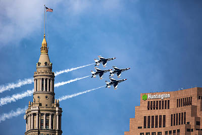 Photograph - Thunderbirds In Cleveland by Dale Kincaid