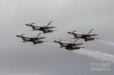 Usaf Digital Art - Thunderbirds by J Biggadike