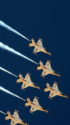 Photograph - Thunderbirds  by Karen Musick