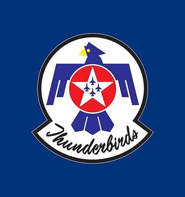 Thunderbirds Logo Art Print