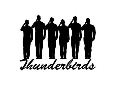 Thunderbirds Pilots Art Print