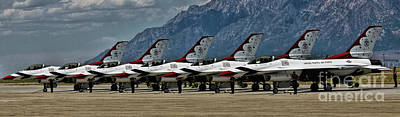 Photograph - Thunderbirds Ready by Richard Lynch