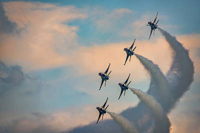 F-16 Photograph - Thunderbirds by Rick Berk