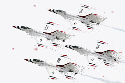 Thunderbirds Shatter Art Print by J Biggadike