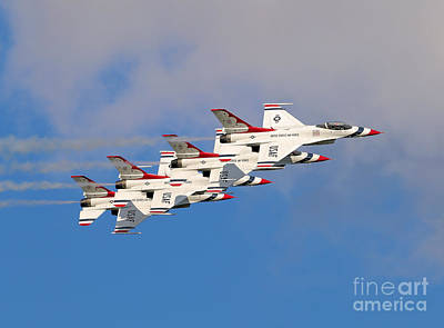 Photograph - Thunderbirds Stacked 2 by Rick Lipscomb
