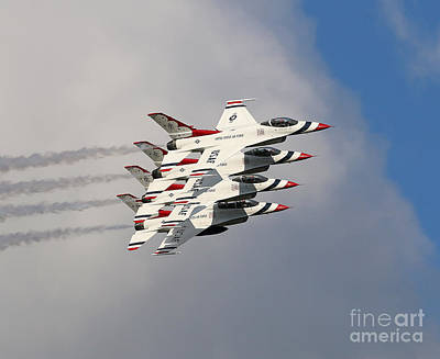 Photograph - Thunderbirds Stacked by Rick Lipscomb