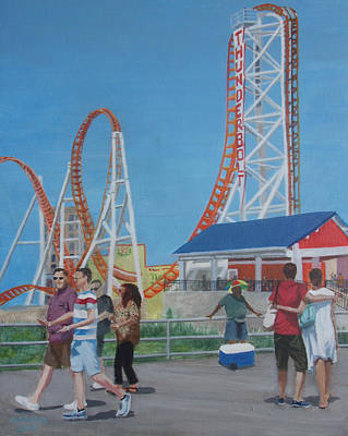 Thunderbolt At Coney Island Brooklyn Ny Original by Donna Rollins