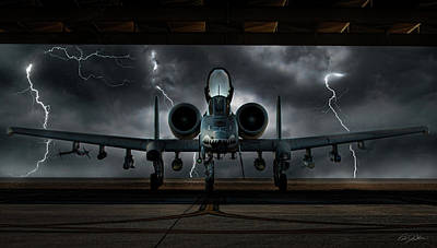 Thunderbolt And Lightning Art Print by Peter Chilelli