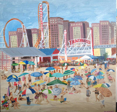 Wine Corks - Thunderbolt at Coney Island Brooklyn NY by Donna Rollins