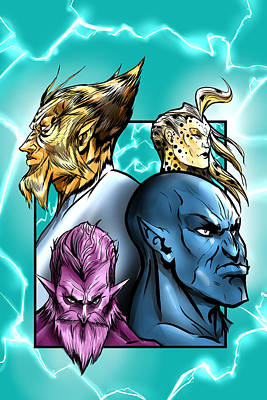 Thundercats Digital Art - Thundercat Fan Art by Mikey Martinez