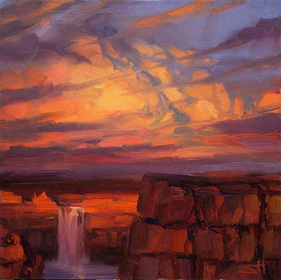 Countryside Painting - Thundercloud Over The Palouse by Steve Henderson