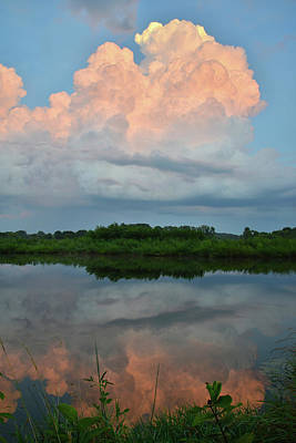 Photograph - Thunderhead Reflection by Ray Mathis