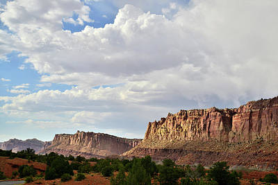 Photograph - Thunderheads Over Capitol Reef by Ray Mathis