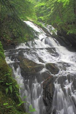 Photograph - Thundering Brook Falls Appalachian Trail Killington Vt by John Burk