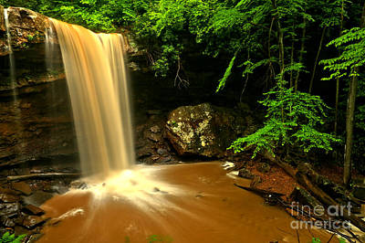 Photograph - Thundering Over Cucumber Falls by Adam Jewell