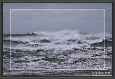 Photograph - Thundering Waves, Framed by Sandra Huston