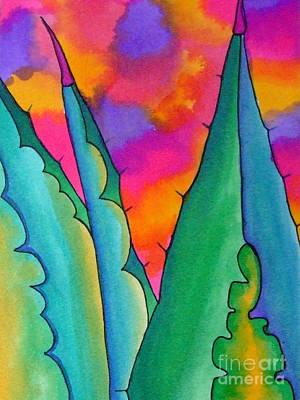 Thunder Painting - Thunderous Desert by Helen Weston