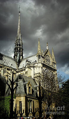 Photograph - Thunderous Notre Dame by Marina McLain