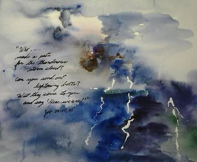 Painting - Thunderous Storm Cloud by B L Qualls