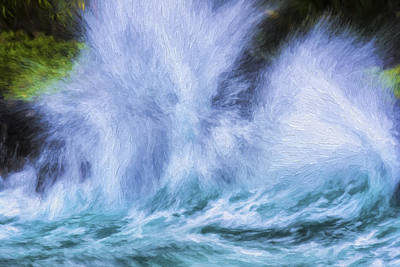 Digital Art - Thunderous Waves II by Jon Glaser