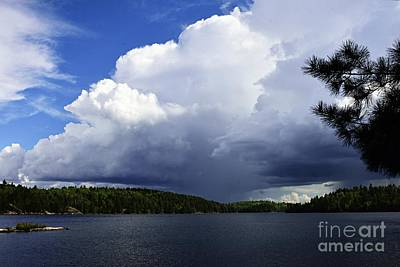 Photograph - Thundershower Over Slim Lake by Larry Ricker