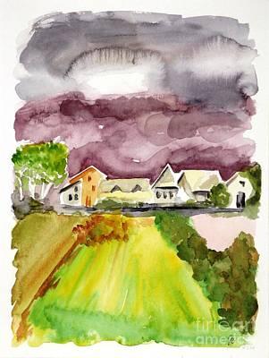 Thunderstorm Approaching Art Print