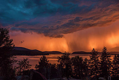 Photograph - Thunderstorm At Sunset by Albert Seger
