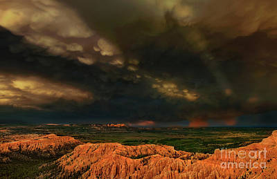 Photograph - Thunderstorm Bryce Canyon National Park Utah by Dave Welling