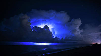 Photograph - Thunderstorm City Delray Beach Florida by Lawrence S Richardson Jr