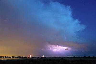 Photograph - Thunderstorm Edge Over Boulder Colorado by James BO Insogna